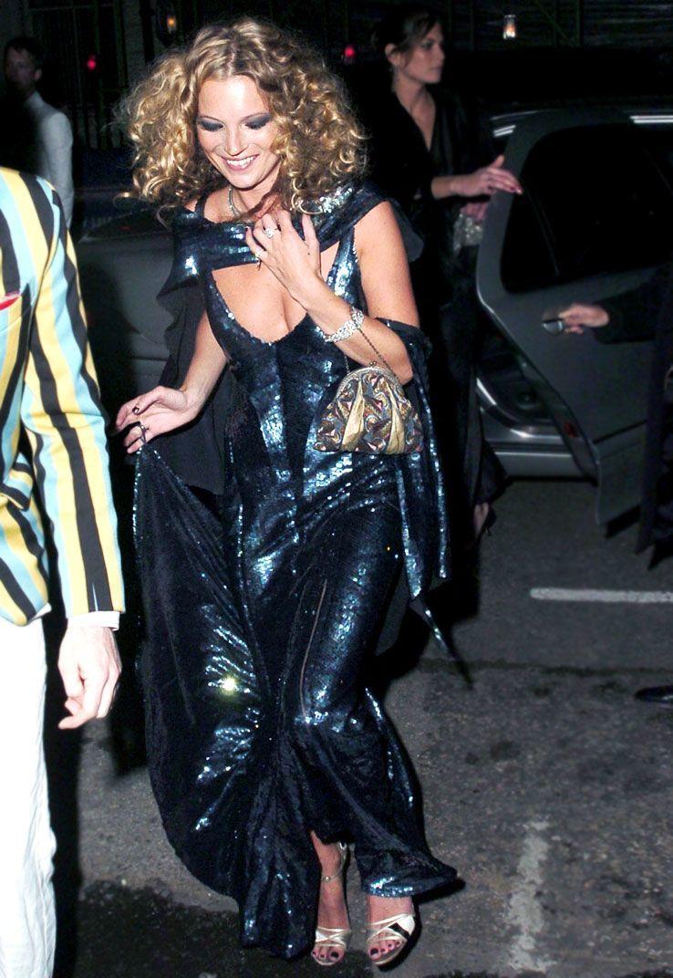 Kate Moss en su 30 cumpleaños.
