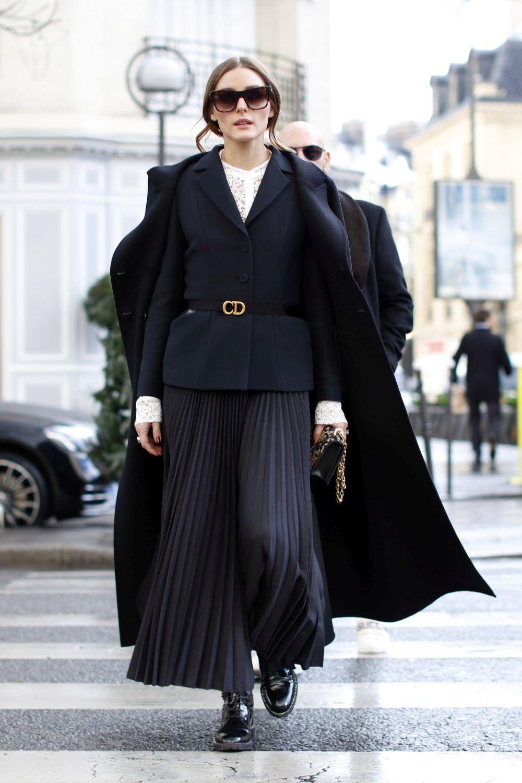 Olivia Palermo en la Semana de la moda masculina de París.