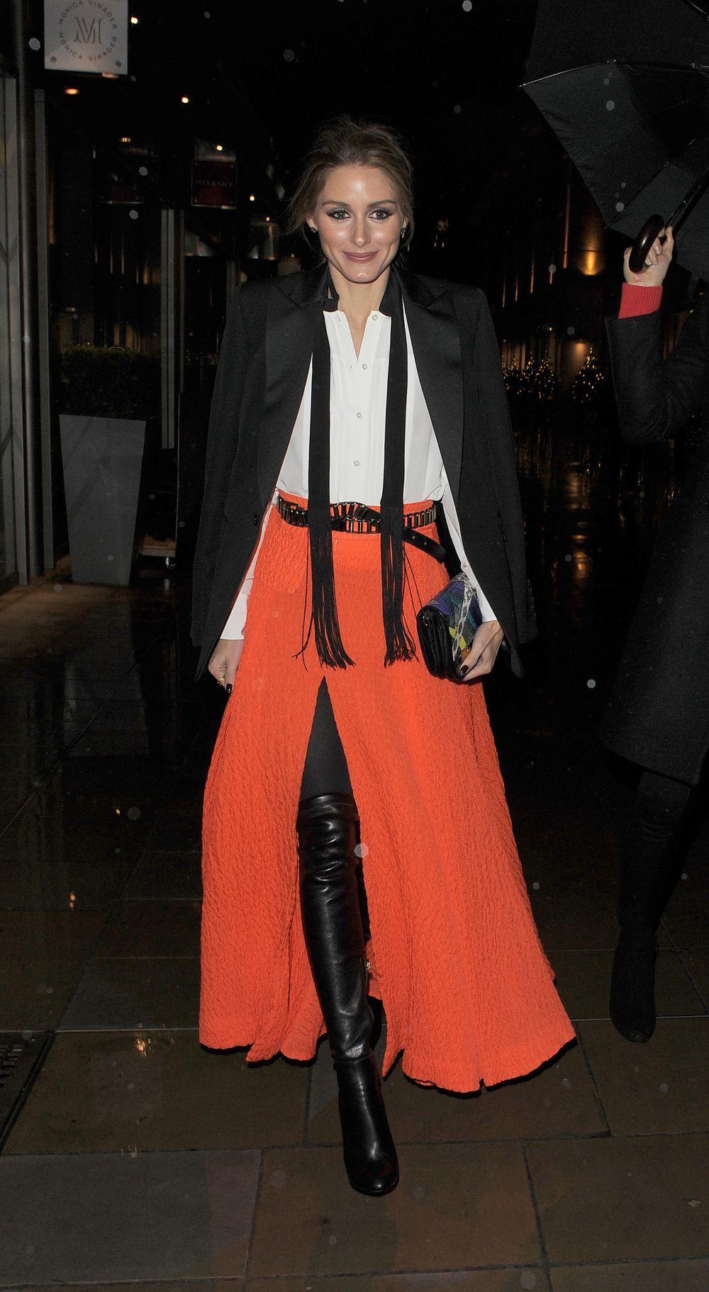 Olivia Palermo es una de las celebrities que mejor domina las botas...