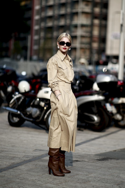 Caroline Daur en la Milán Fashion Week.