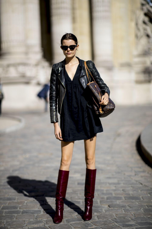 En las semanas de la moda, las modelos se apuntan al minivestido y las...