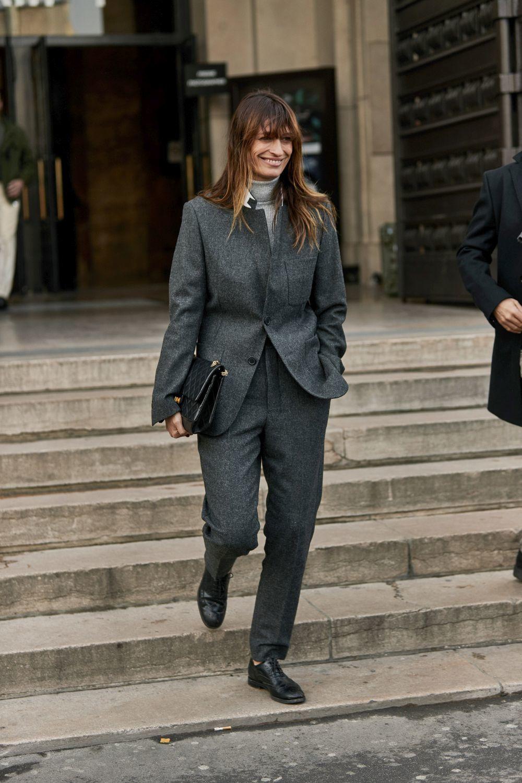 Caroline de Maigret con blazer XL.