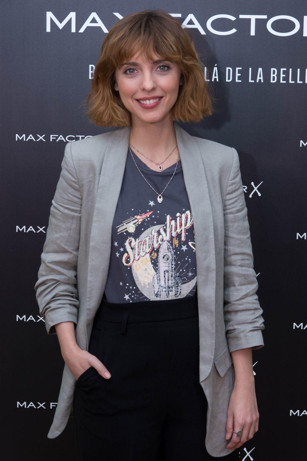 Leticia Dolera en la presentación de la nueva campaña de Max Factor,...