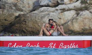Alizée Thevenet y James Middleton disfrutando de las vacaciones.