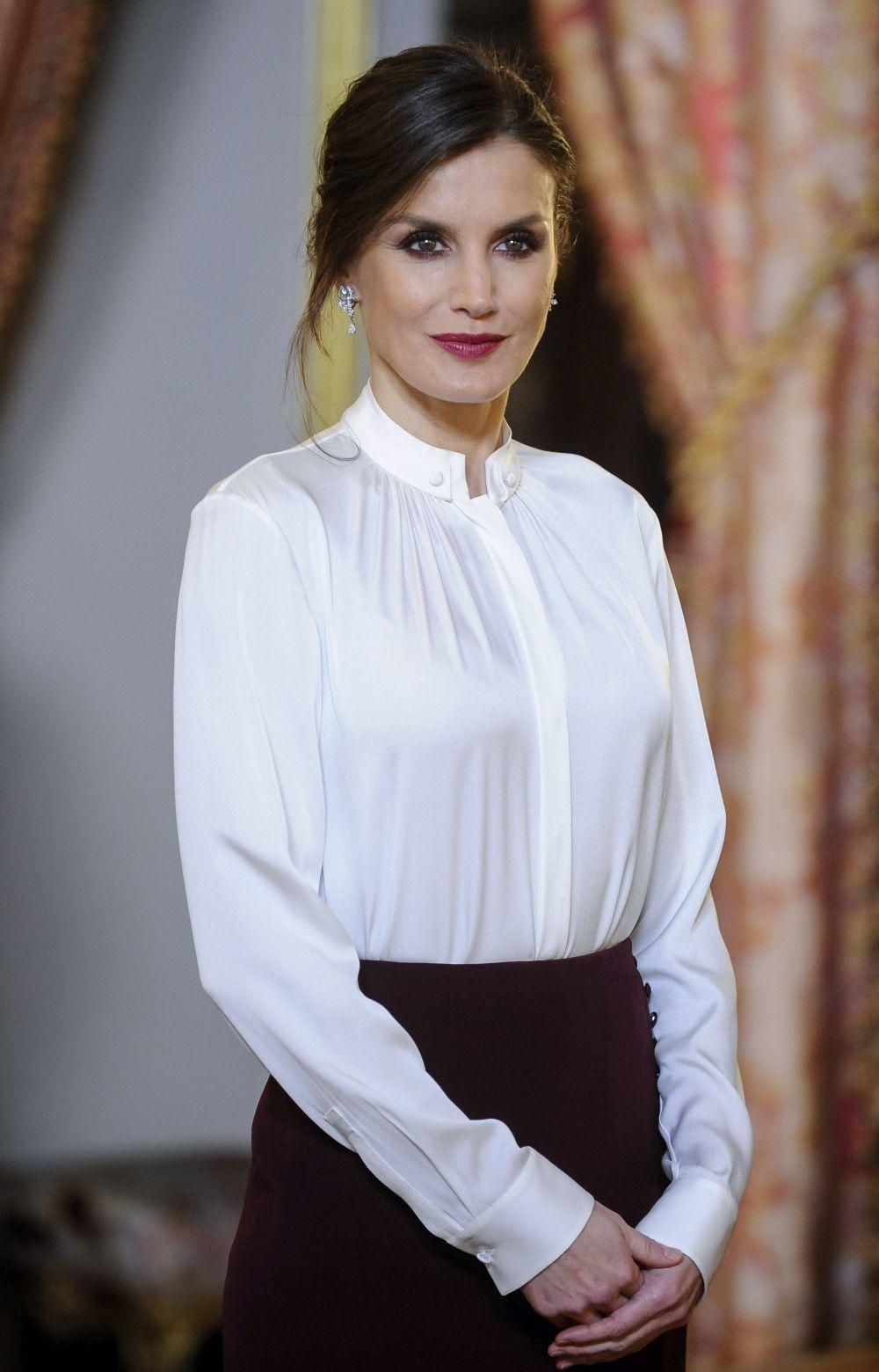 Doña Letizia en la Recepción al Cuerpo Diplomático.