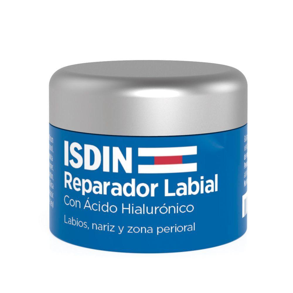 Reparador labial en tarro de Isdin.