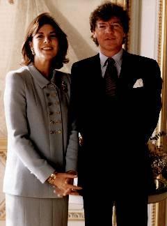 Carolina con el también príncipe Ernesto de Hannover