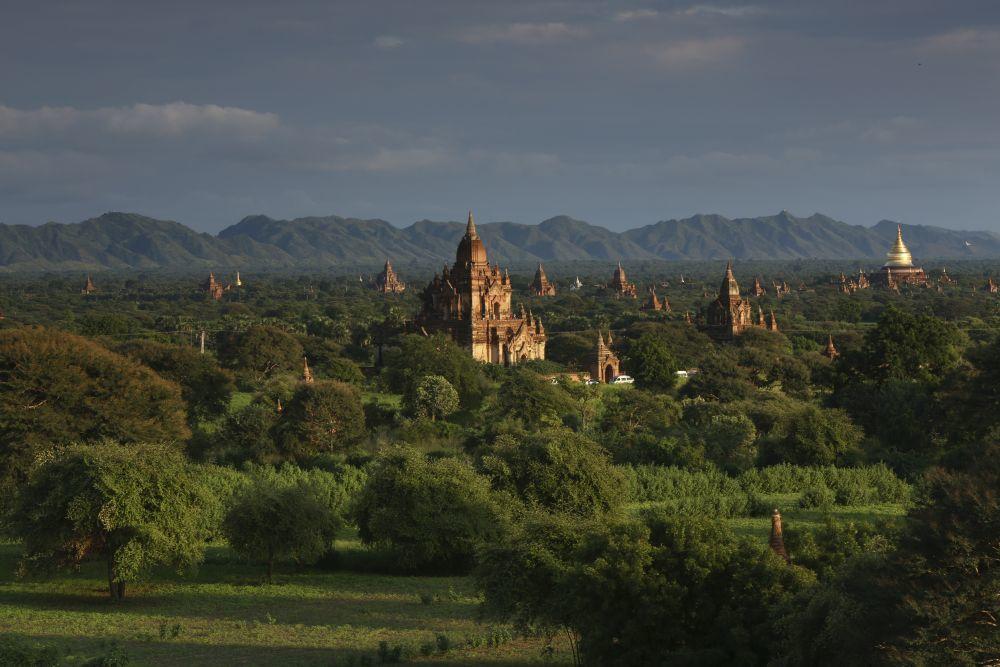Templos en Bagán, Birmania.