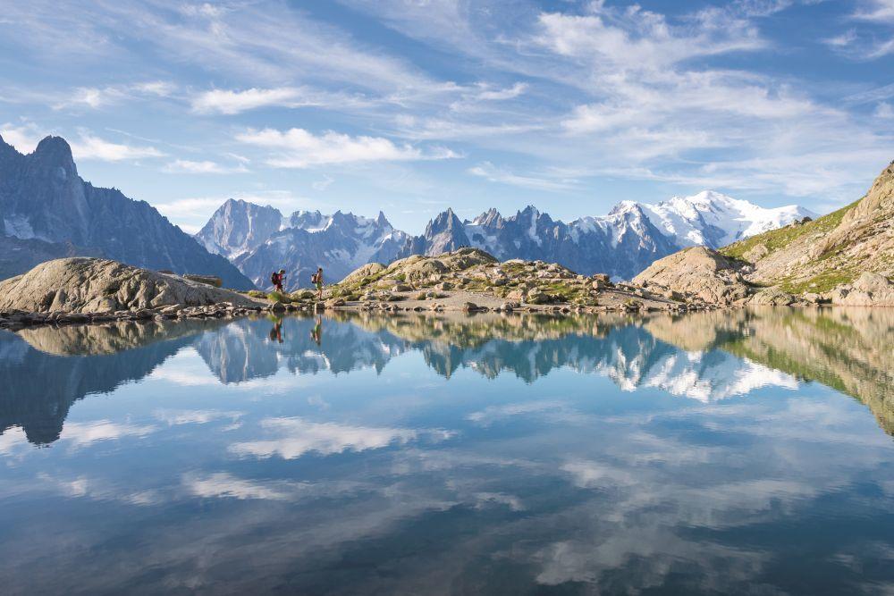 Paisaje de los Alpes.