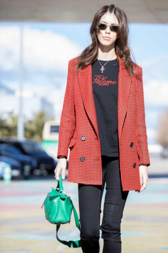 La Modelo Mayka Merino Street Style En Madrid Fashion Week