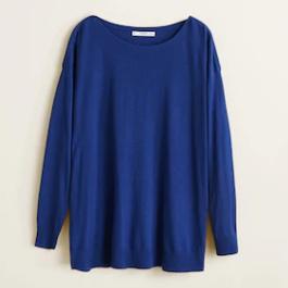 Jersey azul eléctrico de Mango