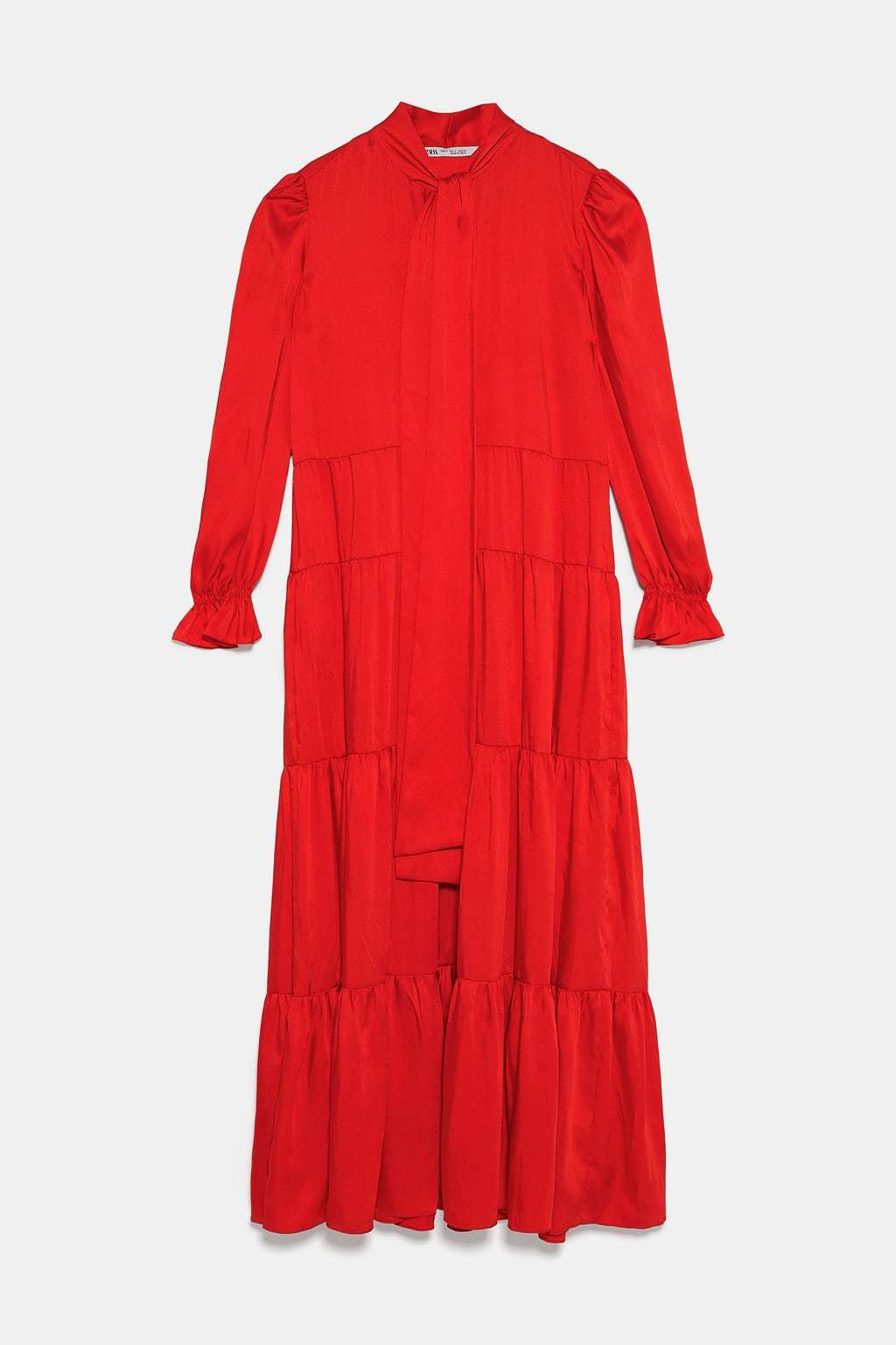 El vestido rojo de Zara, una de las mejores versiones del vestido boho...