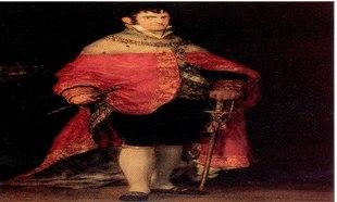 Retrato de Fernando VII con manto de terciopelo, de Francisco de Goya.