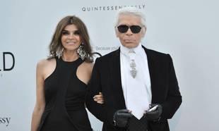 Karl Lagerfeld y Carine Roitfeld