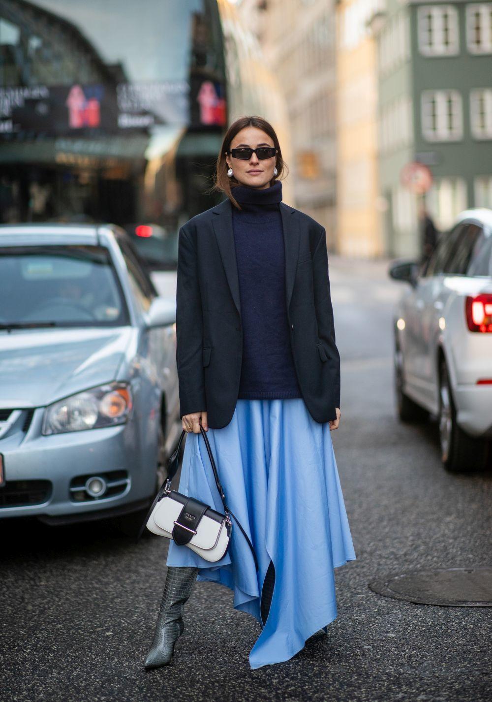 Una asistente a los desfiles de Copenhague.