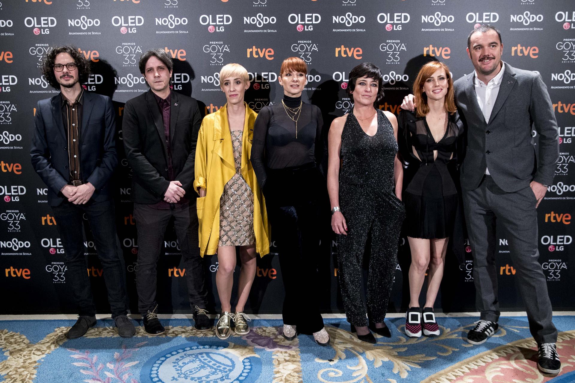 Algunos de los actores y actrices que acudieron al anuncio de...