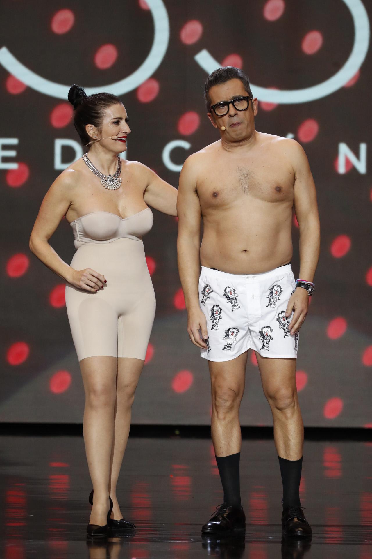 Silvia Abril y Andreu Buenafuente, en ropa interior en un momento de...
