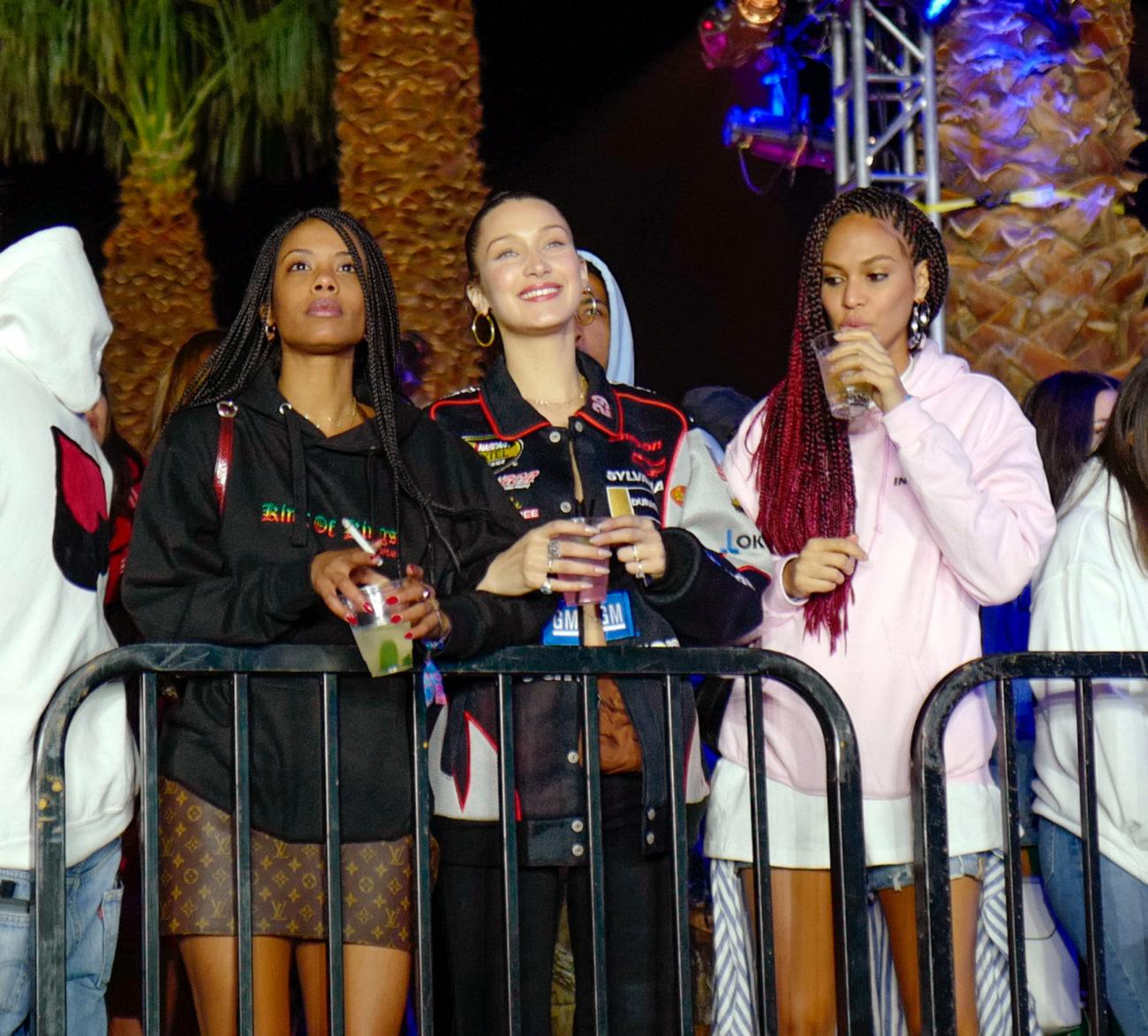 Bella Hadid, Fanny Bourdette Donon y Joan Smalls en el pasado festival...