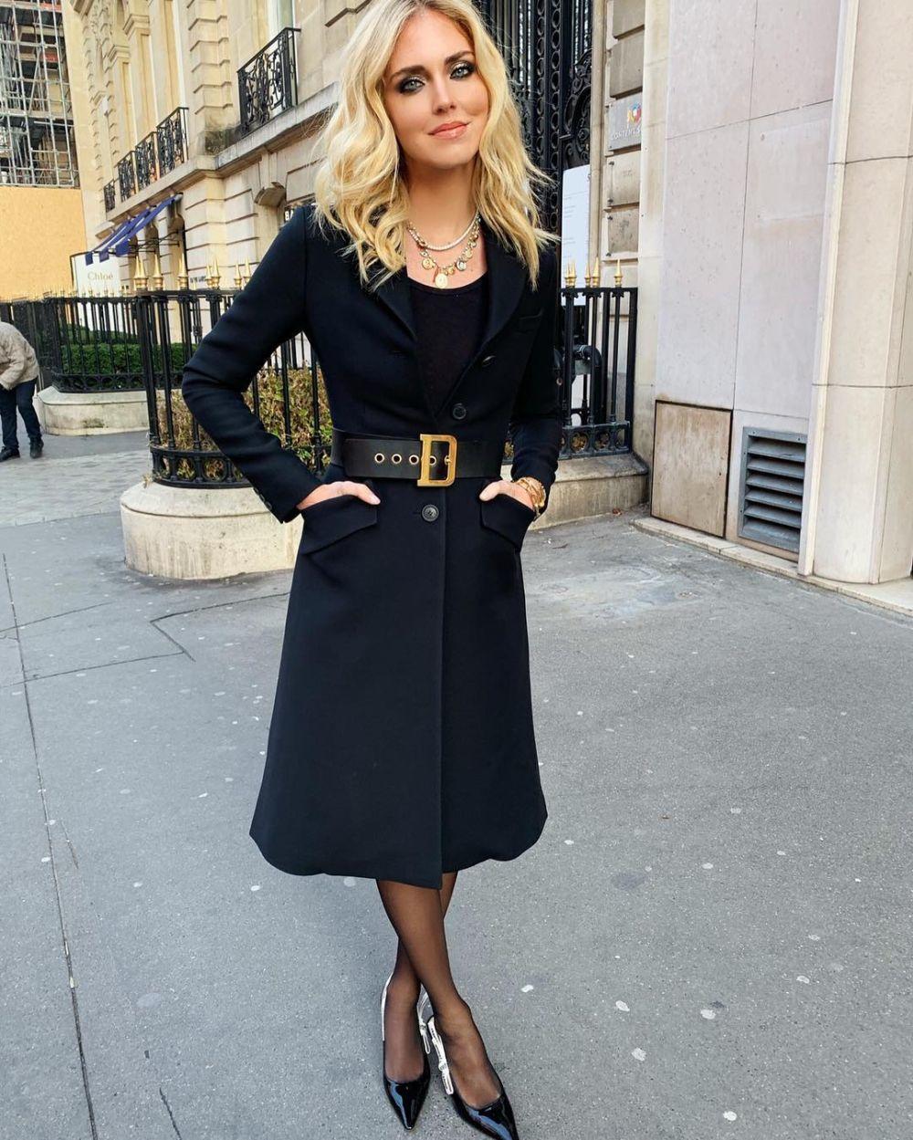 Chiara Ferragni en el desfile de Dior