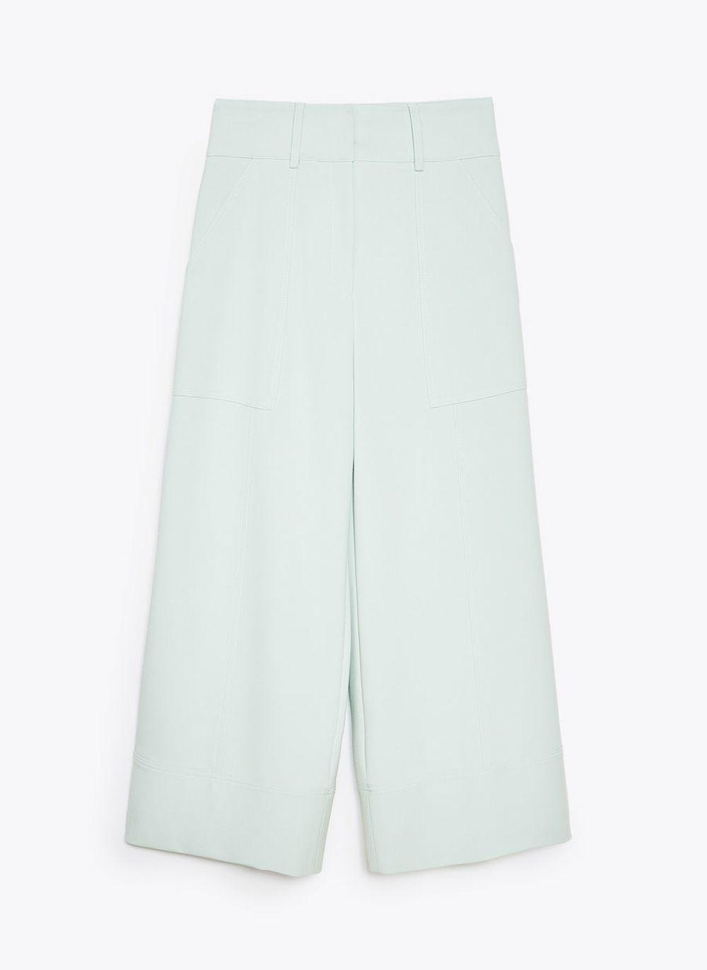 Pantalón ancho  aquamarina