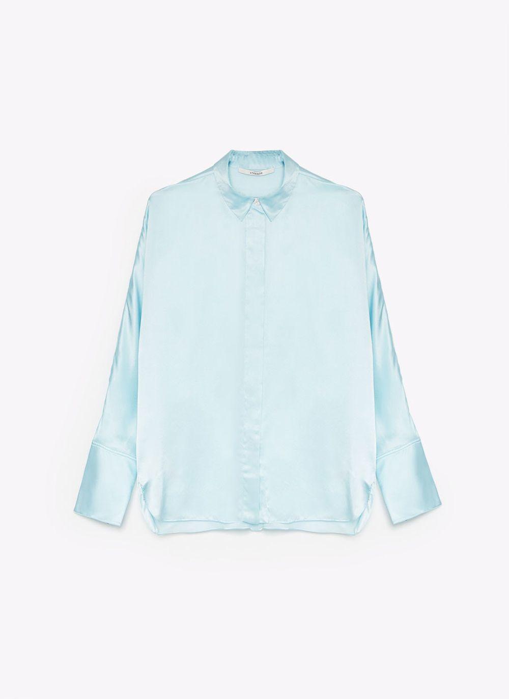 Camisa oversize con tejido fluido
