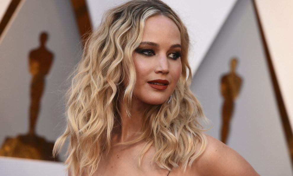 Jennifer Lawrence en los premios Oscar 2018.