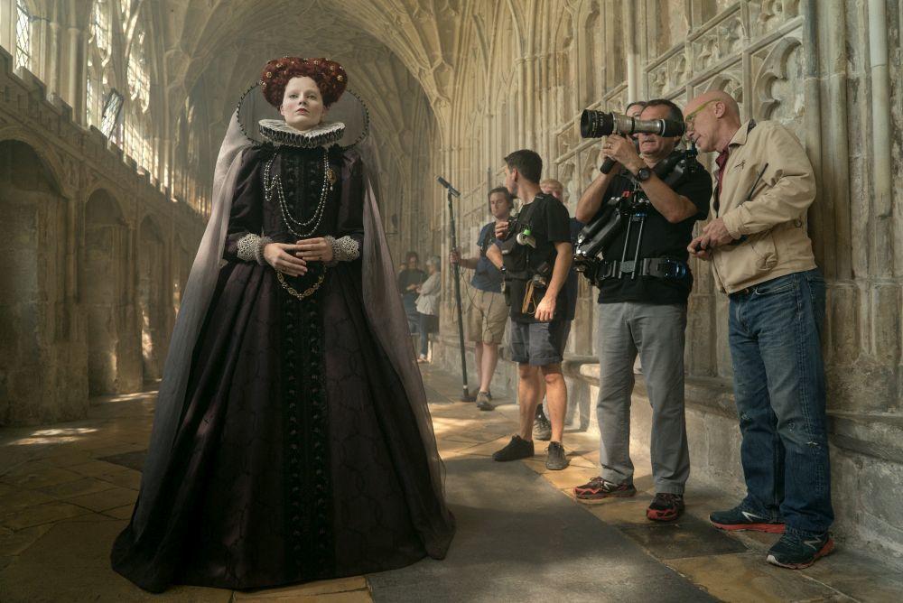 """Un momento del rodaje de """"María, reina de Escocia""""."""
