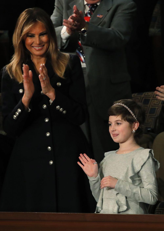 La primera dama norteamericana ayer.