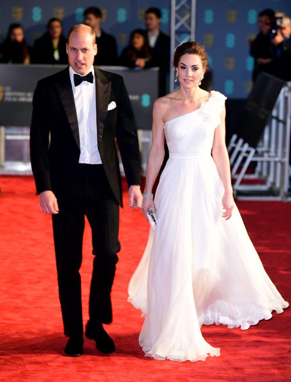 Los Duques de Cambridge llegando a la gala de los Premios Bafta 2019.