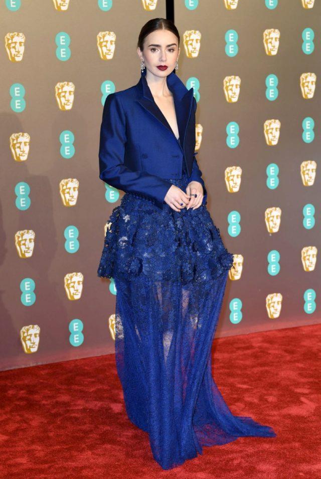 8cc436fd7 Lily Collins | Bafta 2019: Los vestidos más espectaculares de...