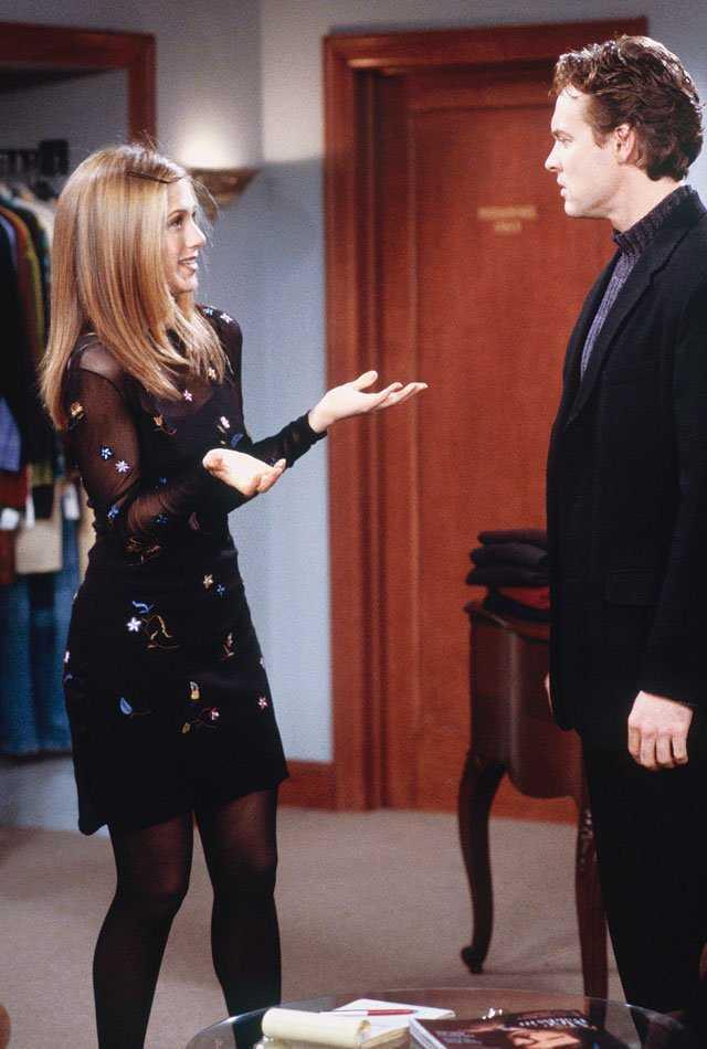 Aniston ejerciendo de Rachel Green.