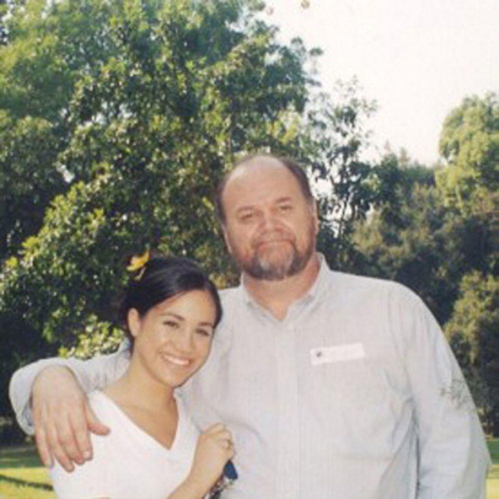 Meghan Markle de adolescente con su padre.