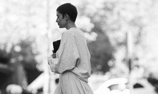 La autora, paseando por Madrid