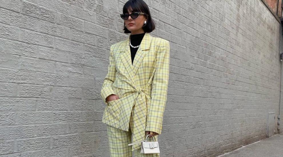 María Bernad durante la Nueva York Fashion Week.