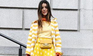 Calu Rivero lució un total look amarillo combinado con rayas y...