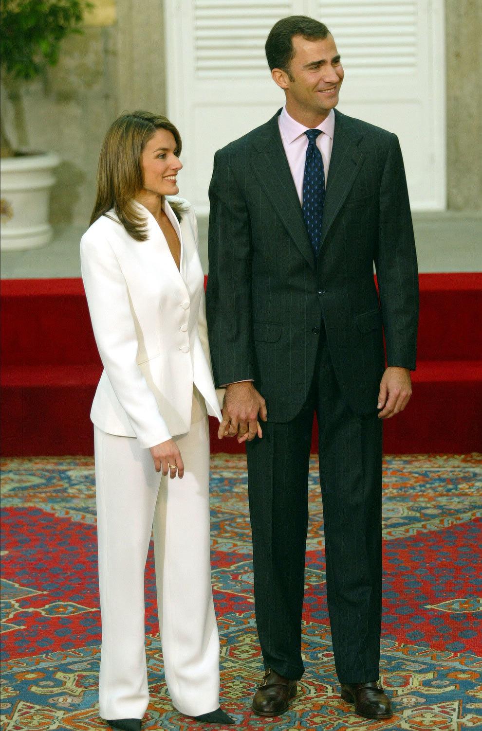 La reina Letizia el día de su pedida