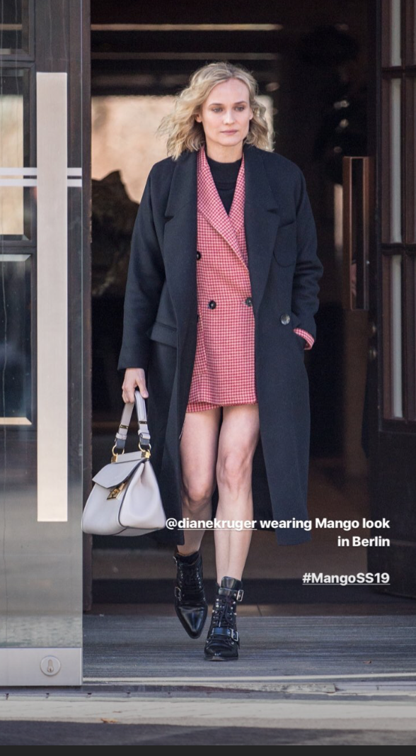 Diane Kruger con look de Mango.
