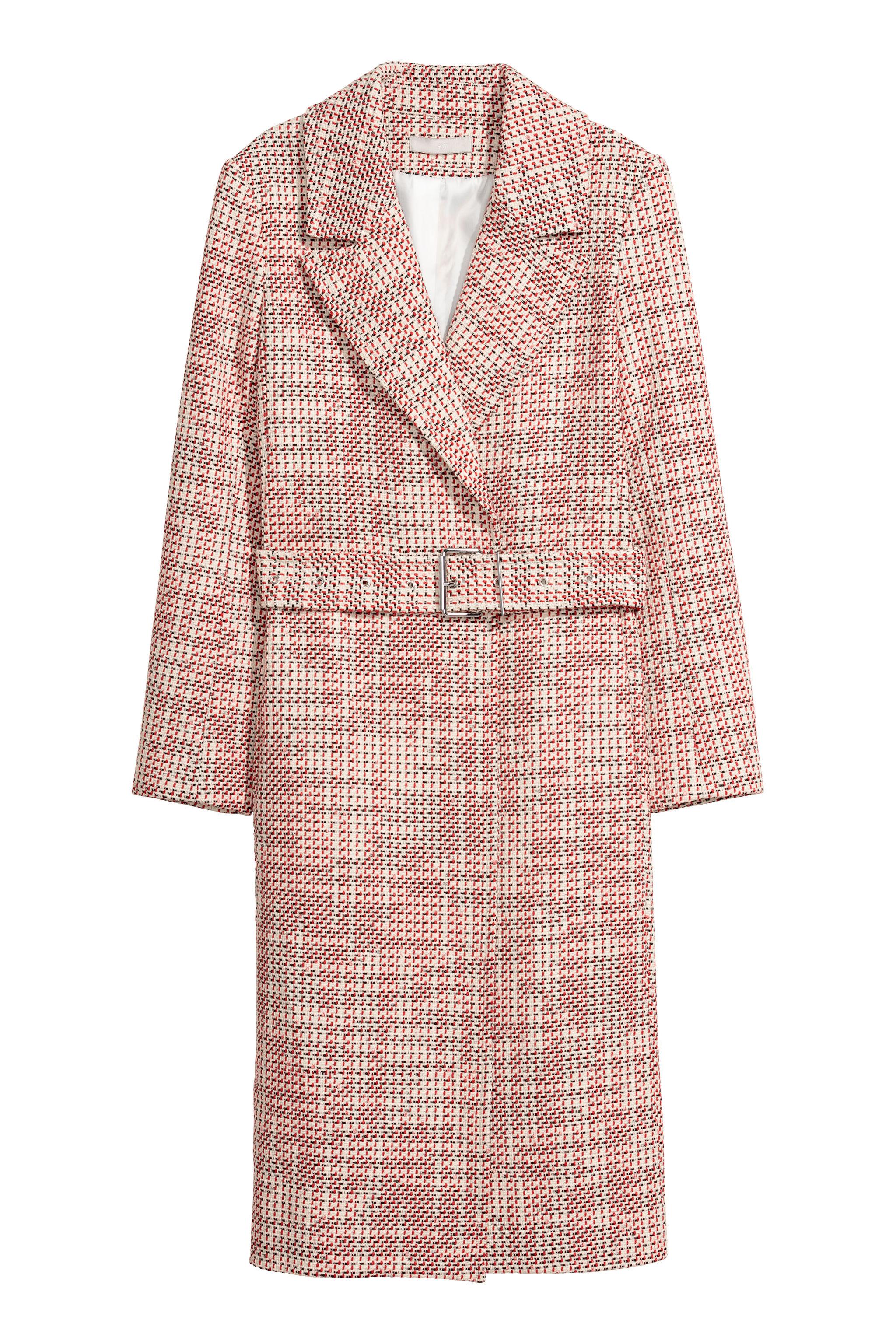 Abrigo largo en rosa p