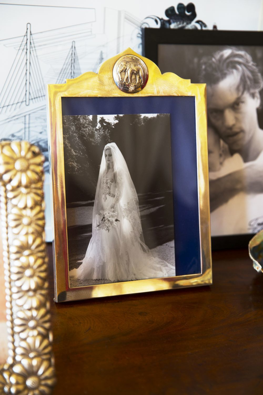 Una de las fotos de su boda, realizado por Mario Testino.