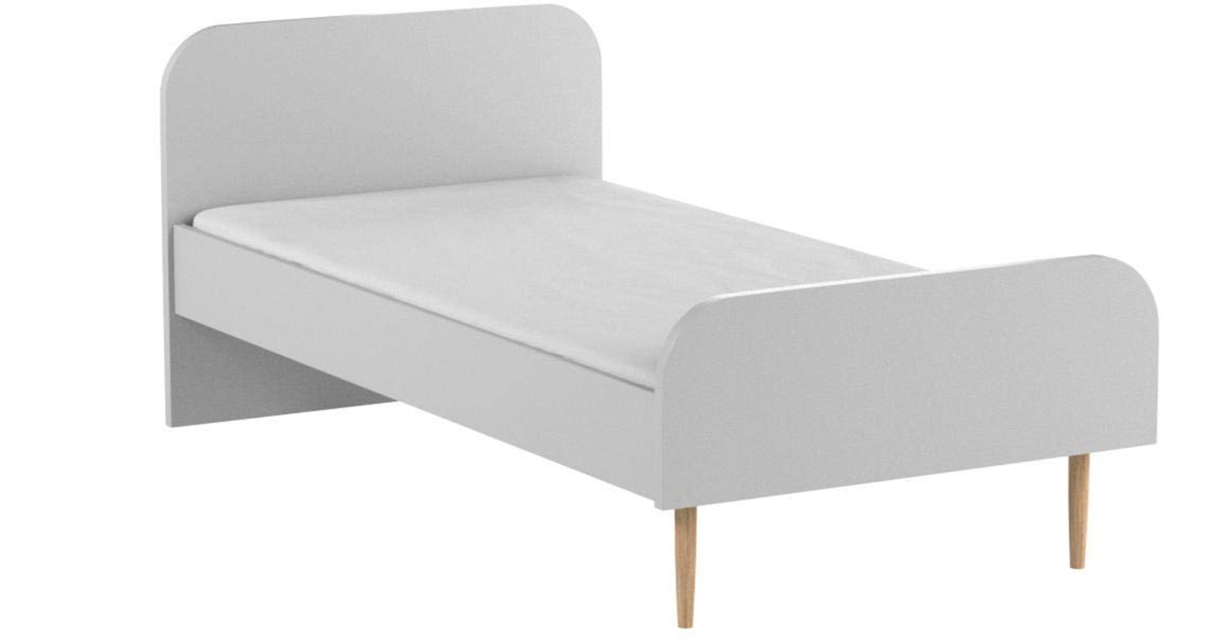 Base para cama individual de melamina gris de Movian