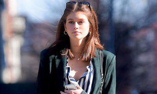 La modelo Kaia Gerber en Nueva York.