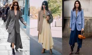Blazer XL + falda asimétrica, este es el nuevo uniforme de las...