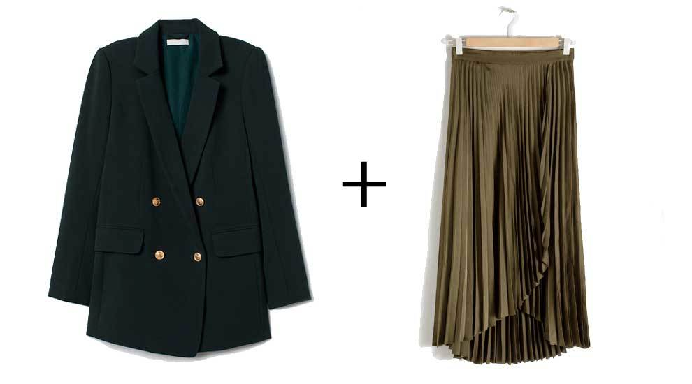 Blazer de H&M (39,90 euros) y falda asim