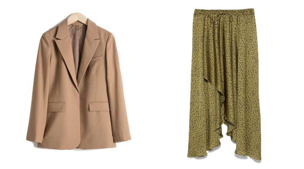 Blazer de & Other Stories (129 euros) y falda asimétrica en print...