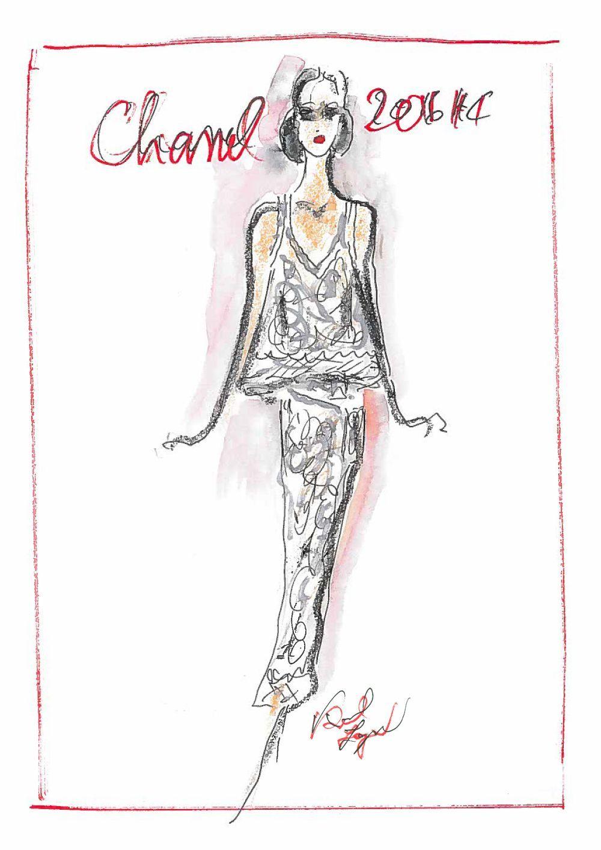 Boceto de Karl Lagerfeld