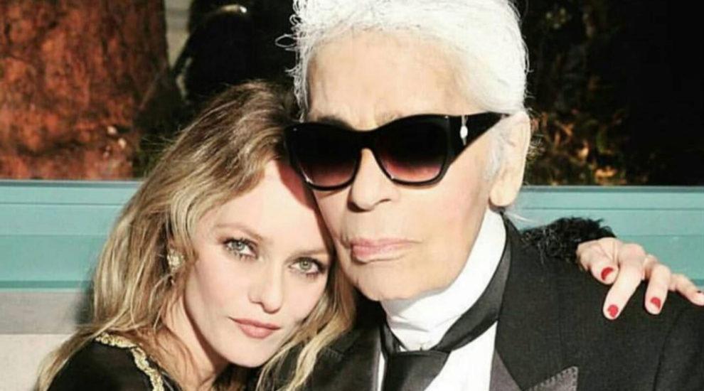 Vanesa Paradis comparte una foto junto a Karl Lagerfeld
