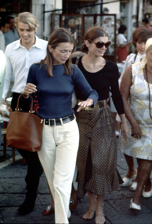 Lee Radziwill con su hermana, Jackie Kennedy.