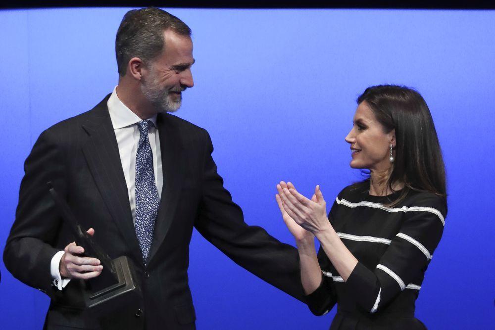 """Los reyes en el reconocimiento a Felipe VI, galardonado con el """"World..."""