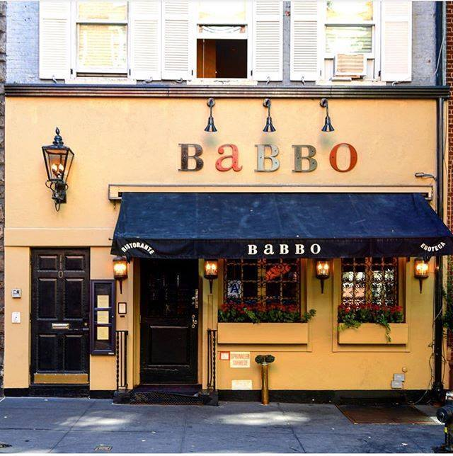 Fachada del restaurante Babbo.