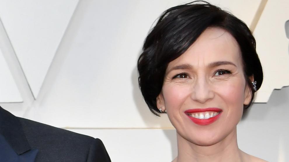 Ariadna Gil en la alfombra roja de los Premios Oscars 2019 con un...